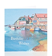 Boat Scene Birthday Card