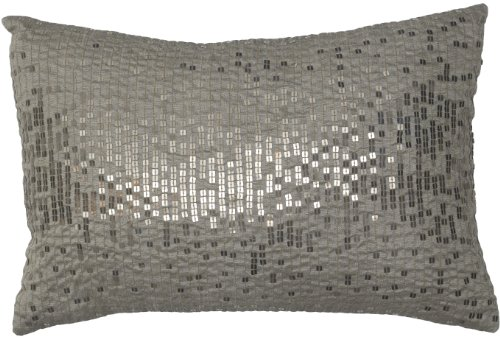 Modern Living Miro Square Sequin Pillow, 12 By 18-Inch front-878447