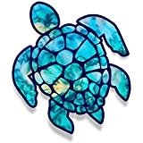 Vinyl Junkie Graphics 3 inch Sea Turtle Sticker for Laptops CupsTumblers Cars and Trucks any smooth surface (cyan dream) (Color: cyan dream)