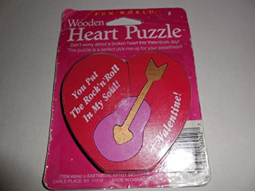 Fun World Wooden Heart Puzzle You Put The Rock'N'Roll in My Soul - 1
