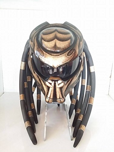 Brown Predators style safety helmet motorcycle adult hight quality handmade.