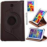 Tab 4 7.0 Case, AiSMei Rotating Case For Samsung Galaxy Tab 4 7.0 SM-T230,SM-T231, SM-T230NU Tablet PC,7-Inch PU Leather Case [Bonus Stylus+Screen Protector] -Brown (Color: Brown, Tamaño: 7 Inch)
