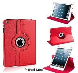 NC iPad Mini 2/3 360 Degree Case cover, Smart PU Leather Stand Flip Case Cover For APPLE iPAD Mini 2/3, Guaranteed Quality!!!! Red