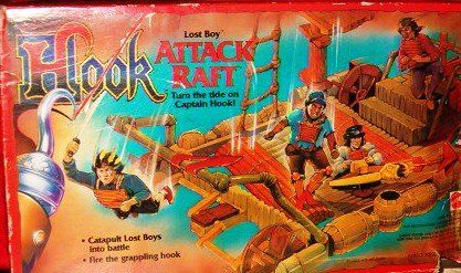 Mattel Hook Lost Boy Attack Raft Pirate Ship Toy