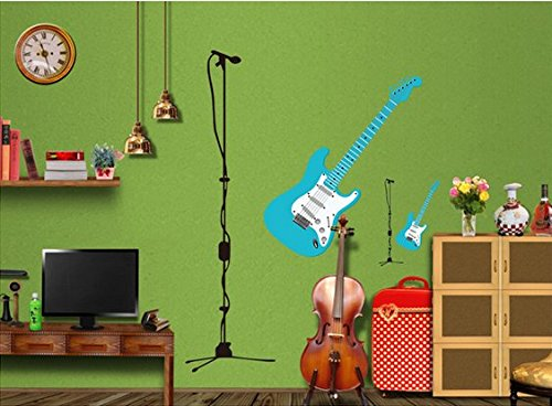 Music, Dance Classroom Bedroom Wall Stickers Guitar front-1017391