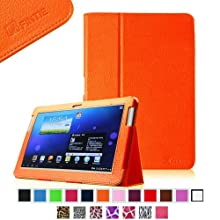 Fintie Slim Fit Folio Case Cover For Samsung Galaxy Note 10.1 Inch Tablet N8000 N8010 N8013 - Orange