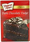 Duncan Hines Classic Cake Mix, Dark Chocolate Fudge, 16.5 Ounce (Pack of 6)