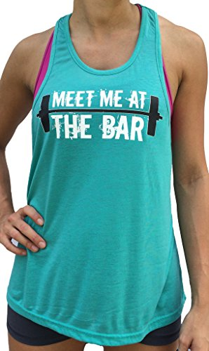 SoRock Meet Me At The Bar Singlet Tank Top Small Turquoise (Meet Me At The Bar compare prices)