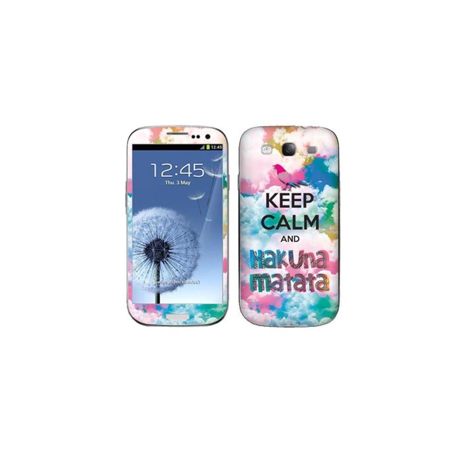 Fincibo (TM) Samsung Galaxy S3 III i9300 i747 L710 I535 T999 Accessories Skin Vinyl Decal Sticker   Keep Calm Hakuna Matata
