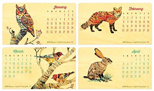 2015 Wooden Critter Desk Calendar by Night Owl Paper Goods