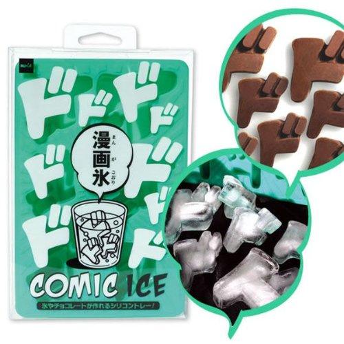漫画氷「ドドド」ラナ/RANA/氷/シリコントレー/チョコレート/製氷/冷凍/擬態音型/文字/形
