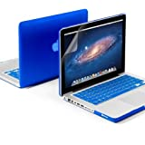 GMYLE(R) 3 in 1 Blue Matte Hard Case for Macbook Pro 13 (Model: A1278) - with Silicon Keyboard Cover- Screen Protector - (not fit for 13 Macbook Pro with Retina display)
