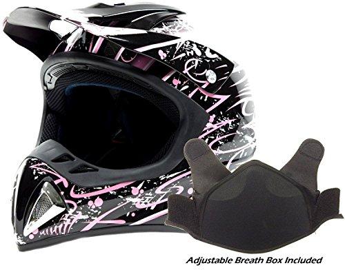 Adult Snocross Snowmobile Helmet - Pink ( Small ) (Snow Machine Helmet compare prices)
