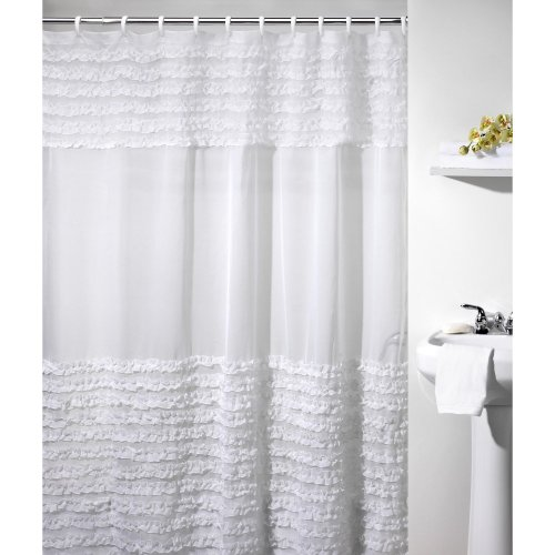 Ruffles Shower Curtain by Creative Bath Products Inc