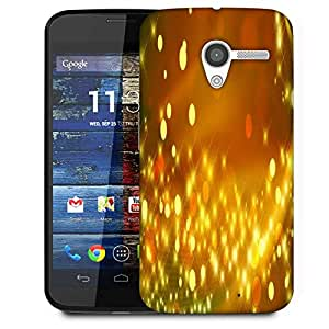 Snoogg Golden Sparkles Abstract Designer Protective Phone Back Case Cover For Moto X / Motorola X