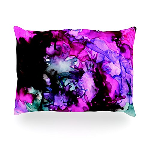 "Kess Inhouse Claire Day ""Siren"" Pink Purpleoblong Rectangle Throw Pillow, 14 By 20-Inch front-993525"