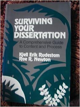 (Erik) Rudestam, Rae R surviving your dissertation Navigating