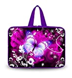 51lkIjfls2L. SL160  OHS10 019 NEW art design Purple flower & butterfly 9. 7 10 10. 1 10. 2 inch soft Neoprene Laptop Netbook Tablet Handle Sleeve bag Case Carrying cover pouch Holder Protection For apple iPad 2 3 4/new ipad 5 air /Asus EeePC 10 transformer/Acer Aspire one/Dell inspiron mini/Samsung N145/Toshiba/Kindle DX/Lenovo S205/H