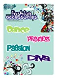 MagnaCard Magnetic Epoxy Expressions Decorative Magnets, 9 x 6 x 9 inches , Princess (pink), Passion (blue), Diva (Purple), and Dance (green) (61234)