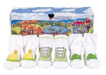 Dimples Let's Go to the Park Unisex Three Pairs Duck, Gym Shoe and Turtle Socks, 0-12 months