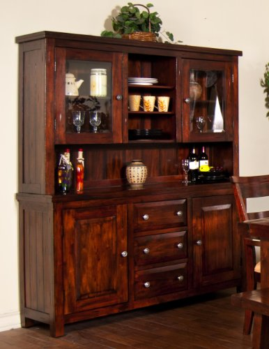 Sunny Designs Vineyard Hutch/Buffet (Bar Hutch compare prices)