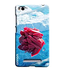 Omnam Snow Effect With Red Printed Designer Back Cover Case For Xiaomi Mi4i