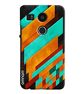 Omnam Colorful printed Pattern back cover for LG Nexus 5 X