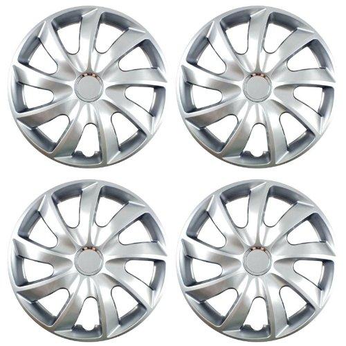 Radkappen STICK silber 15 Zoll passend für Fiat 500, Bravo, Brava, Doblo, Grande Punto, Evo, Idea, Linea