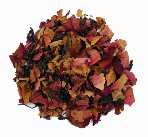 Rose Petal Black Tea - 8Oz - Loose Leaf Yunnan Chinese Tea Blended With Pure Dried Floral And Fragrant Rose Petals That Provide Vitamin C For Healthy Skin And Bones. - Nature'S Tea Leaf