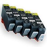 hp(ヒューレットパッカード) 純正互換インクカートリッジ HP920XL ブラック5本セット 残量表示機能付 【ICチップ有り】 Angelshopオリジナル