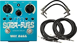 Way Huge WHE707 Supa Puss Analog Delay Pedal w/4 Free Cables by Dunlop