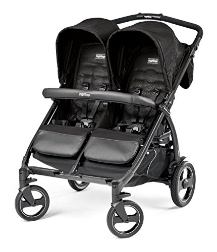 Peg Perego Book For Two Classico Passeggino, Nero (Black)