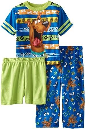 AME Little Boys' Ruh Roh Scooby 3-Piece Sleepwear Set, Multi, 2T