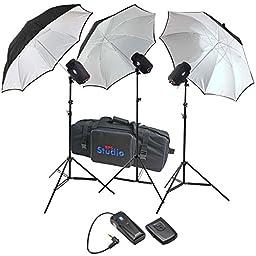 RPS RSSBSLK3 480ws 3x160ws Monolight Studio Kit With Bag