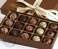 Chocolate Truffle Collection - Gluten Free, Milk Free, Nut Free - 15 Pieces by Premium Chocolatiers