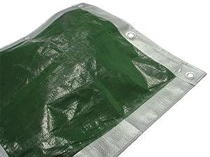 Faithfull TARP129 3.6 x 2.7m/ 12 x 9ft Tarpaulin - Green/ Silver