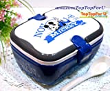 Disney Mickey Mouse Scotland Classic Handle 2 Layers Lunch Box Bento Food Container Including Spoon