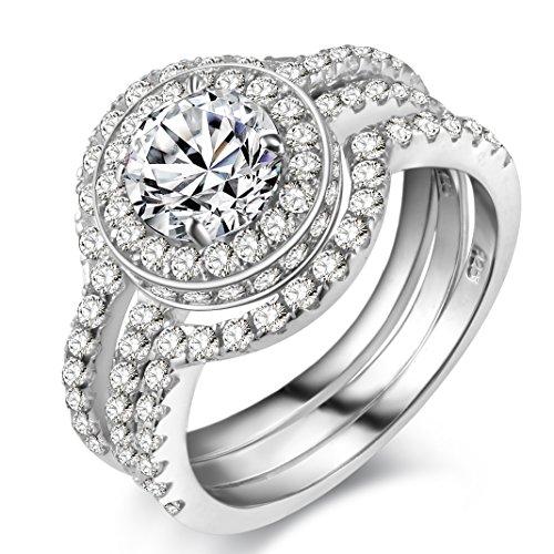 newshe jewellery 5ct white cz 926 solid