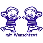 Babyaufkleber f�r Zwillinge mit Wunsc...
