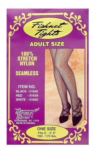 Black Seamless Fishnet Tights - Womens Std.