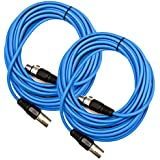 Seismic AudioSAXLX-25Blue-2Pack Pair Of Blue 25-Feet XLR Male To Female Microphone Or Patch Cable (2 Pack)