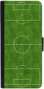 Snoogg Football Field Designer Protective Phone Flip Case Cover For Obi Worldphone Sf1