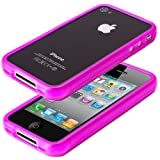 Pink XYLO-GEL Hydro Rim Bumper Skin Cover Case for the Apple iPhone 4 / 4G / 4S