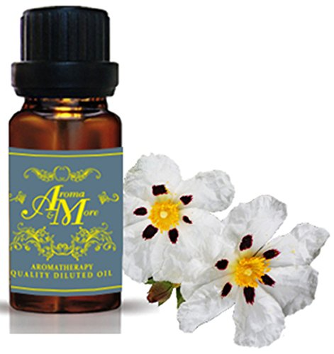 Cistus (Labdanum) Absolute Infused with Jojoba Pure Essential Oil 100% (Spain) (Cistus ladaniferus Fam.Cistaceae) (Floral Scent) 10 ml (1/3 Fl Oz)-Beauty