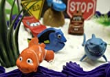 Disney Pixar Cars, Finding Nemo, Monsters Inc., The Incredibles 20 Piece Birthday Cake Topper Featuring Lightning McQueen, Sally, Mater, Bruce the Shark, Nemo, Dory, Mike Wazowski, Sulley, Randall Boggs, Mr. Incredible, Dash - Cake Topper Set Includes All Items Shown