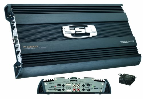 SSL F4.2000 Force 2000-Watt 4-Channel Mosfet Amplifier with Remote Subwoofer Level Control