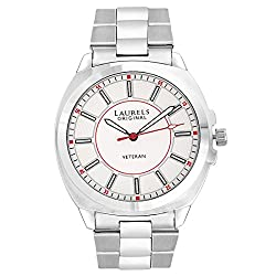 Laurels Original White Dial Analogue Watch for Men (Lo-Polo-901)