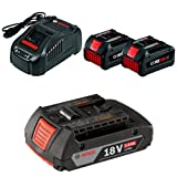 Bosch GXS18V-02N24 18V Starter Kit with CORE18V Batteries and Charger, Black with 2.0 AH battery