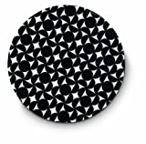 Citta Design 'Hana' Round Placemat, Ink Black, Set of Four High Grade Polymer Placemats, 13-inch Diameter