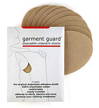 Garment Guard: disposable underarm shields in Standard Size (5 pairs, beige)